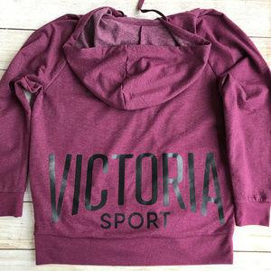 NWOT~Victoria Sport Zip Hooded Sweatshirt M